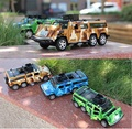 1:32 Metal car models Extended off-road Camouflage painting Military vehicles kids toys
