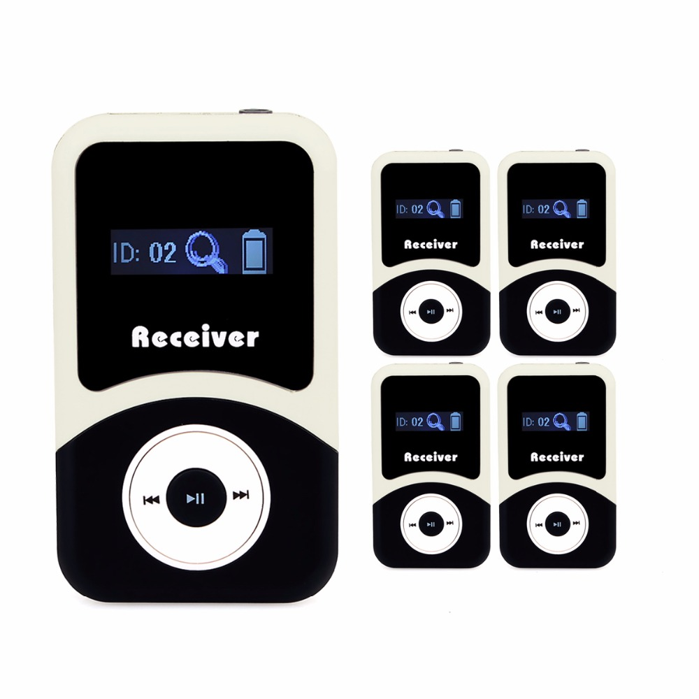 5pcs Tivdio 99 Channels Portable Wireless Receiver For Tour Guide System/Simultaneous Meeting /Wireless Meeting/Church F4505A mxm fan meeting singapore