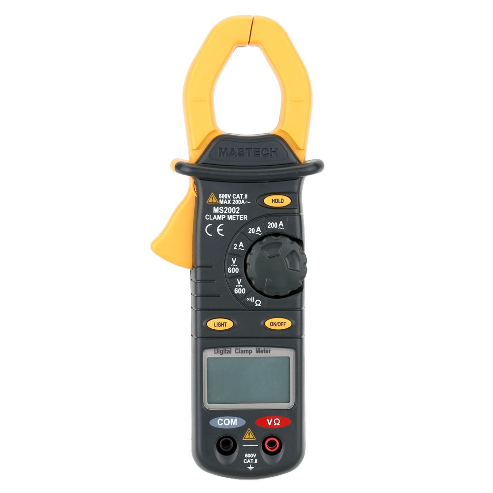 Mastech MS2002 3 1/2 digits Digital Clamp Meter Multimeter AC Current DC/AC Voltage Resistance Audible Continuity MeasurementMastech MS2002 3 1/2 digits Digital Clamp Meter Multimeter AC Current DC/AC Voltage Resistance Audible Continuity Measurement