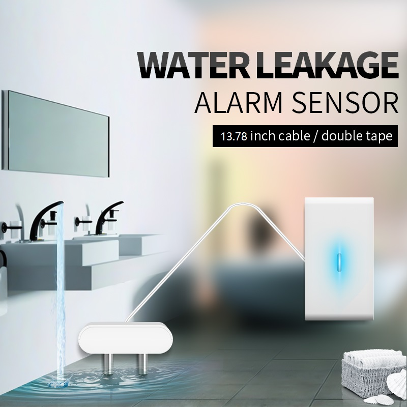 QOLELARM Water Leakage Sensor 433 Wireless Water Leakage Detector Water Leak Alarm Sensor Level 12V  Working For Home Alarm Kit