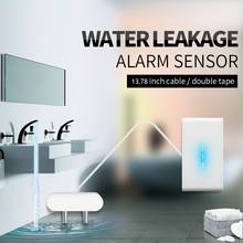 QOLELARM water leakage sensor 433 wireless water leakage detector water leak alarm sensor level 12V  working for home alarm kit 24v water leaking detector liquid overflow sensor water sensor alarm system wired alarm sensor water alarm water leakage alarm