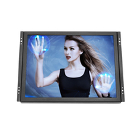 Cheap touch monitor 15 inch raspberry pi touch pos monitor with resistive touch screen AV BNC VGA HDMI USB interface