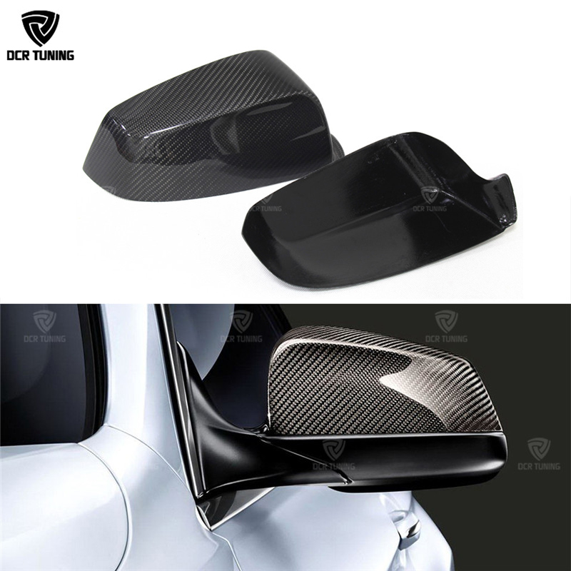 Carbon Fiber Rear View Mirror Cover For BMW 5 6 7 Series F07 F06 F12 F13 F01 2009 - 2013 Add On Style & Replacement Style for bmw f10 carbon fiber mirror cover 5 6 7 series f12 f13 f06 rear side view mirror cover car styling replacement style 2014 up