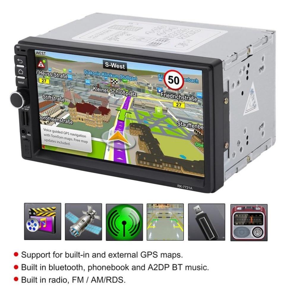 Автомобильный DVD с Америки Географические карты rk-7721a Профессиональный 7 дюймов HD 1024*600 емкостный Экран 7 Красочные огни Функция Горячая расп...