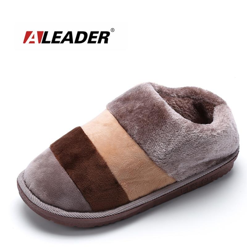 ALEADER Winter Women House Shoes Slip On Warm Slippers
