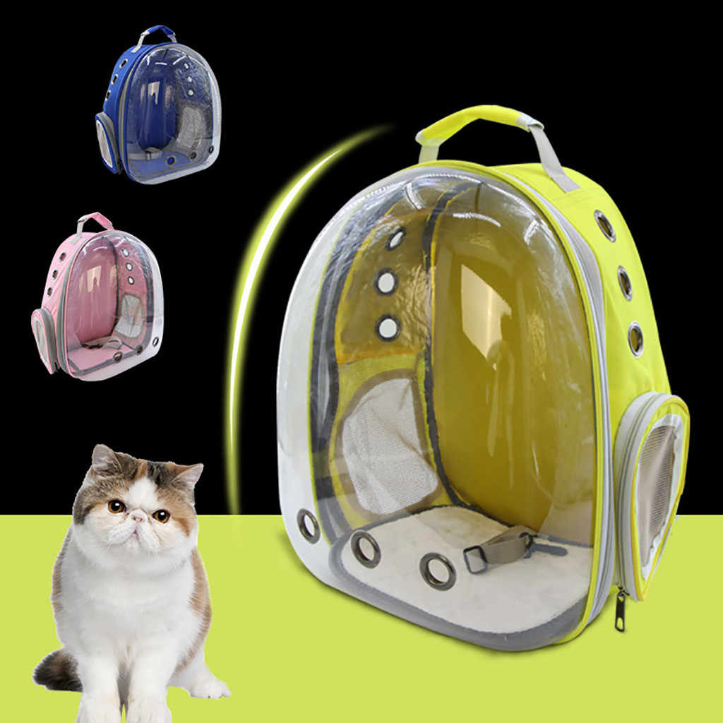 New Portable Pet Cat Dog Travel Carrier Window Astronaut Bag Cat Backpack Space Capsule High Quality Breathable Bag Pet Carrier