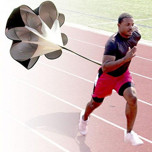 """56 """"Speed Resistance Menjalankan Latihan + Tas Meningkatkan Kecepatan Pelatihan Parachute Menjalankan Chute Sepakbola Sepak Bola Peralatan"""