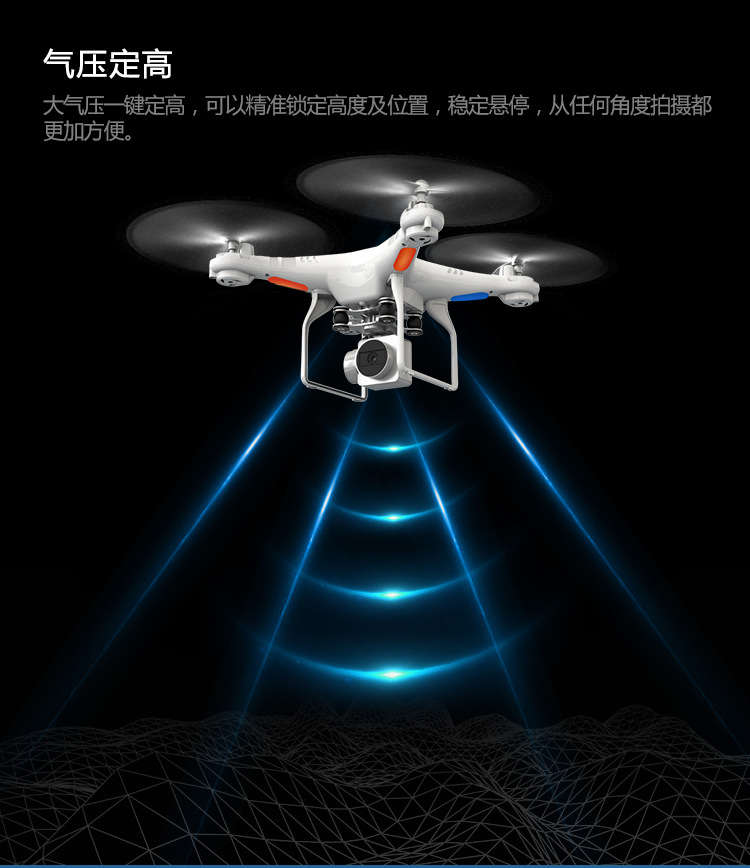 4CH Mini drone with 200w pixels 270 degree wide angle camera with hold high function and live transmission