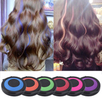 2 Set Temporary Hair Dye Powder Cake 6 Colors Styling Hair Chalk Set Soft Pastels Salon