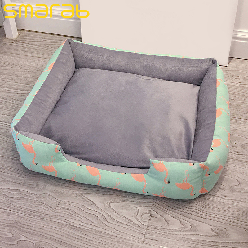 Pet Dog Bed Canvas Kennel Dog House Soft Fleece Warm Cat Bed House Autumn Winter Kennel For Cat Puppy Dog Pens Pet Products