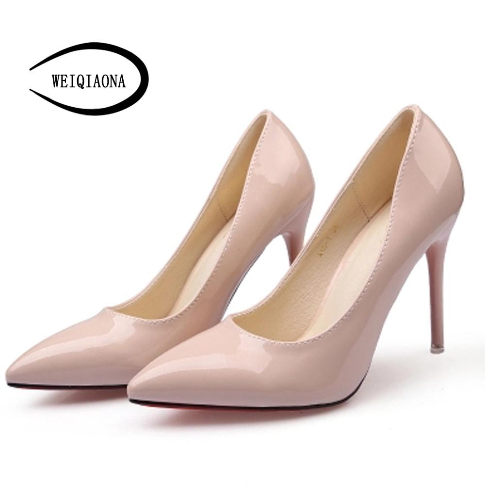 WEIQIAONA 8cm heels height Woman shoes Women High Heels Pumps Stiletto Thin Heel Pointed Toe Women's Shoes Wedding Shoes 2016 woman high heels pumps thin heel women s shoes pointed toe high heels wedding shoes brand fashion shoes
