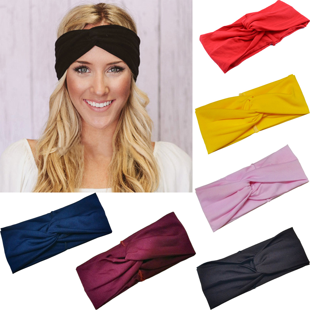 Ruoshui Woman Elastic Turban Solid Knot Headband Soft Girl Warm Hairband Bandage For Party Hair Accessories for Femme   Headwear