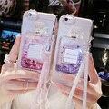 Frasco de perfume de luxo quicksand líquido dinâmico areia glitter tampa do telefone para samsung galaxy j2 j3 2016 com cadeia phone case