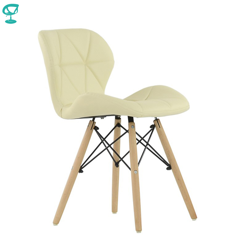 95438 Barneo N-42 Eco-Skin Wood Kitchen Breakfast Interior Stool Bar Chair Kitchen Furniture Cream Free Shipping In Russia