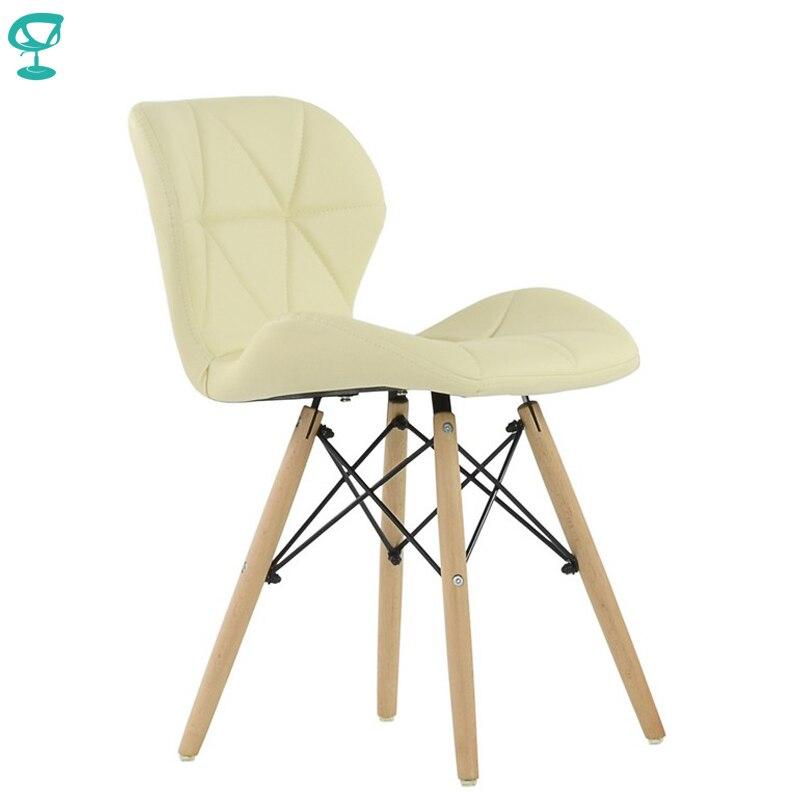 95438 Barneo N-42 Eco-Skin Wood Kitchen Breakfast Interior Stool Bar Chair Kitchen Furniture Cream Free Shipping In Russia
