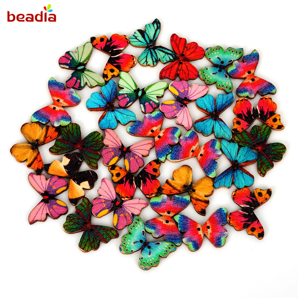 Card Embellishments Gifts 10 Colours /& Mixed 14mm Glitter Butterfly Buttons