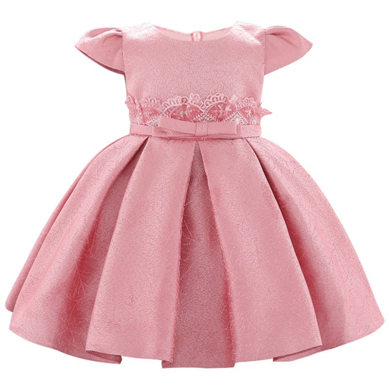 Flower Baby Girl Dress Elegant Silk Tutu 0-24M 1 Years Baby Girls Birthday Dresses Vestido Birthday Party Princess Dress