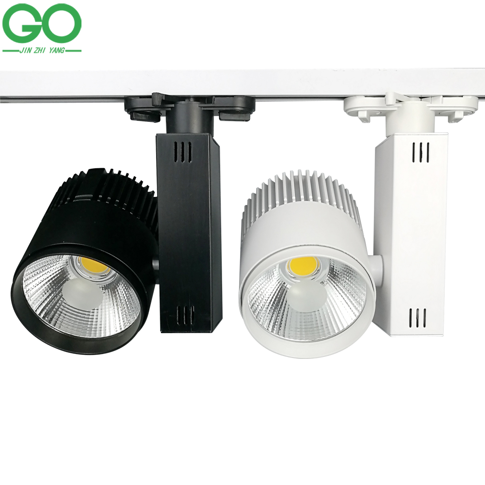 ФОТО LED Track Lights 20W Dimmable COB Rail Linear Light Clothing Shops Shoes Lamps Shops Equal 200w Halogen Lamp 2/3/4 wire 3-phase