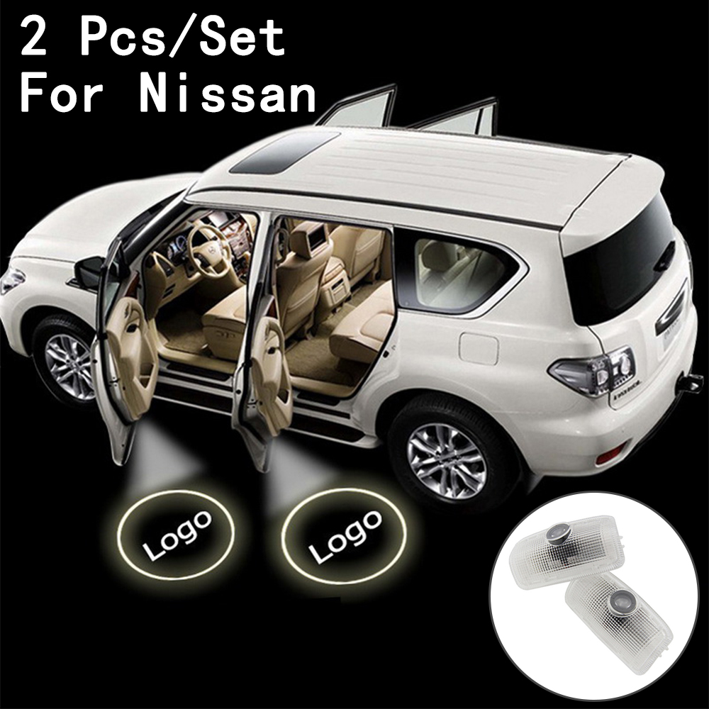 Ghost Shadow Projetor 2Pcs/Set Only For Nissan/Patrol/Teana With Logo LED Courtesy 7W Step Door Courtesy Laser Lens Include