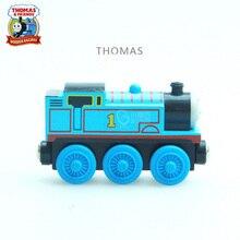 10 STÜCKE Thomas und Seine Freunde Holz Züge Modell Spielzeug Magnetischen Zug Große Kinder Weihnachten Spielzeug Geschenke für Kinder Jungen Mädchen