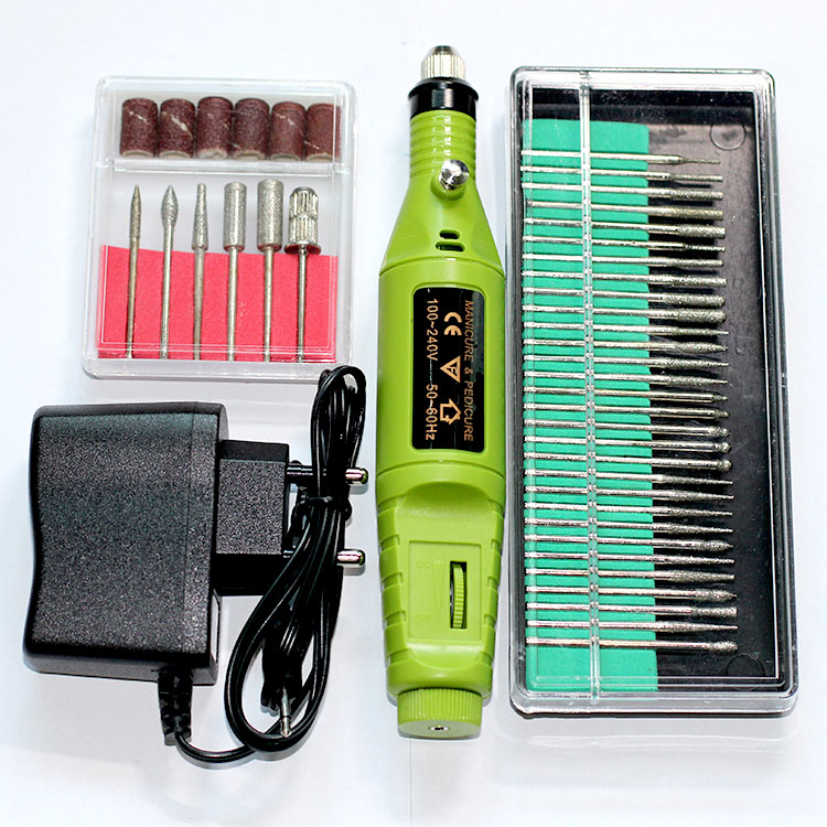 Detail Feedback Questions About 36bits Mini Nail Electric Drill Set Menicure Machine Tool Kit Sanding Sleeves Dum Mandrel Rotary Tools Shaping Grit Nail