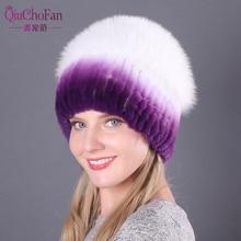 Hot Sell Winter Lady Beanie Hat Women Real Rex Rabbit Fur Hats Knitting Thicken Fur Hat Female Luxury Fox Fur Cap Beanies все цены
