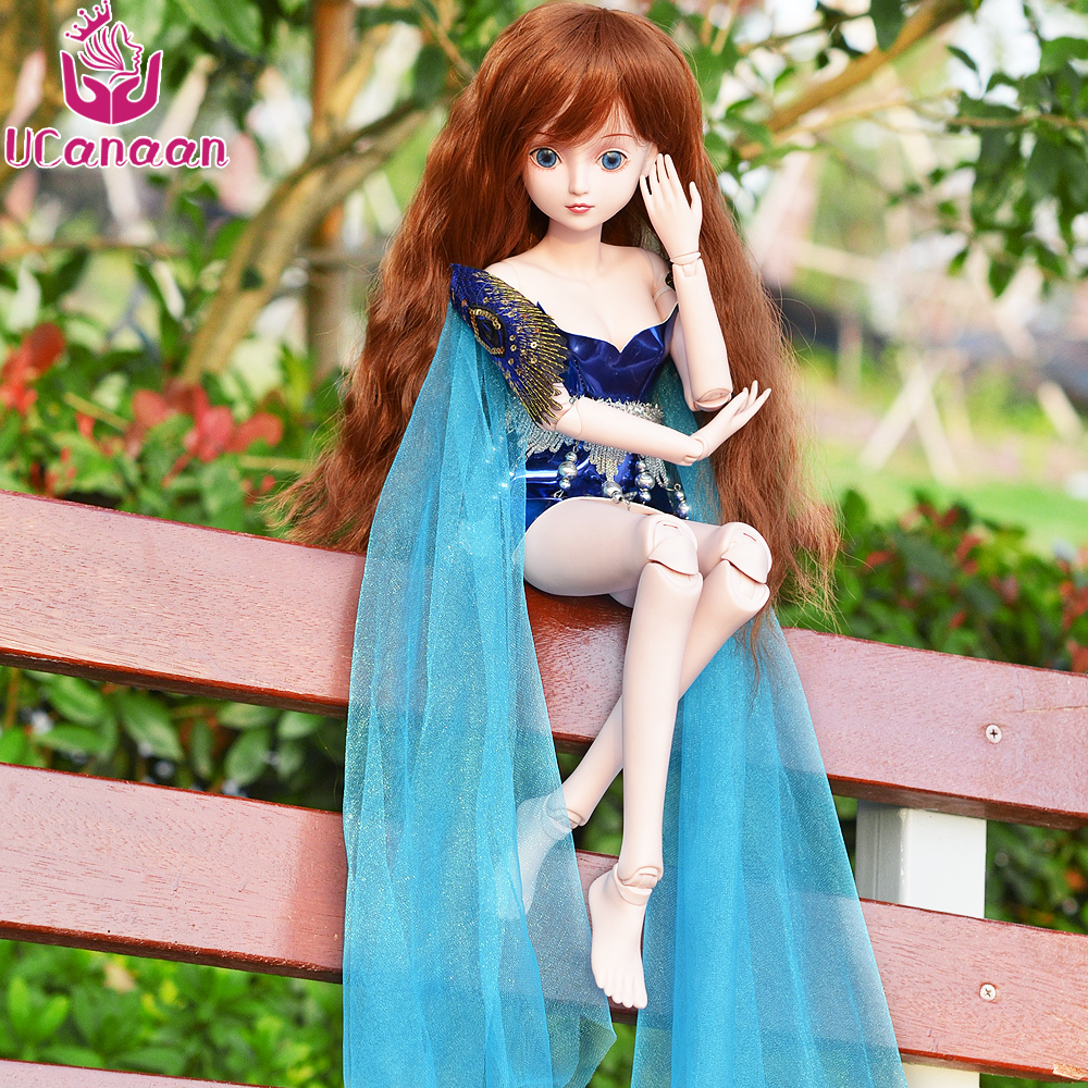 UCanaan 1/3 19 Ball Jointed BJD Doll Beauty Girl Dolls With All Outfit Dress Wig Eyes Makeup Children DIY Dressup Toys Presents handmade ancient chinese dolls 1 6 bjd jointed doll empress zhao feiyan dolls girl toys birthday gifts