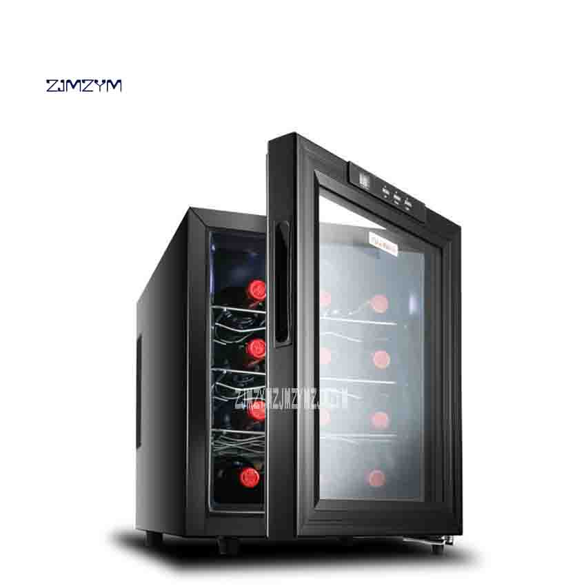 High Quality JC-33AW Electronic Red Wine Cabinet Homeheld Cold Storage Cabinet Wine Cooler 220V 50W 33L 12-18 Degrees Hot Sale
