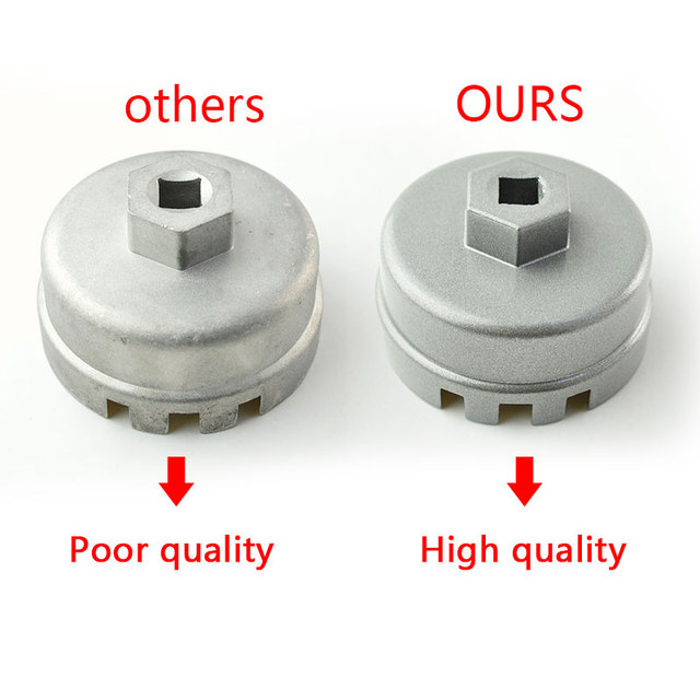 runmade Oil Filter Wrench Cap Housing Tool Remover 14 Flutes 64.5mm Universal for Toyota Lexus Scion Avalon Highlander