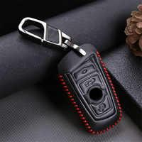Funda de cuero para llave de coche para Bmw Serie 5 F10 4 F11 F15 F30 F31 F34 F20 F48 F07 F21 G30 I8 I3 116I 118I, accesorios para llavero