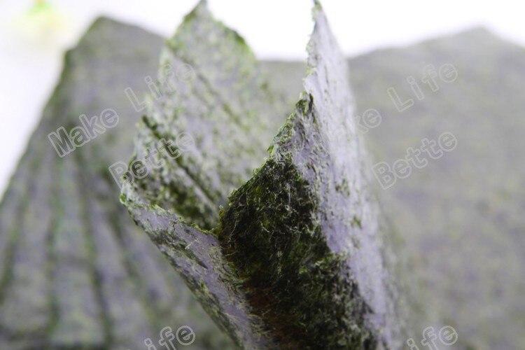 100 шт. Nori морские водоросли для суши + бесплатный инструмент, сушеные водоросли Nori для суши, оптовая продажа, высококачественные водоросли нори-4