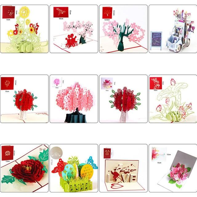 3D Grußkarten Blume Liebe Muster Kreative Stereo Hochzeit Wünschen ...