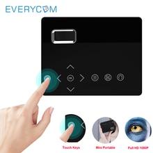 Everycom T200 Mini Smart Pocket Projector Touch keys HDMI USB AV Video Game Projector LED Beamer