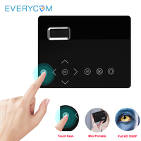 Everycom T200 Mini Smart Pocket Projector Touch keys HDMI USB AV Video Game Projector LED Beamer For Camping Travel Home Cinema