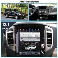 Tesla style car Multimedia GPS navigation for Mitsubishi Pajero V97 V93 Shogun Montero 2006+ radio WIFI recorder NO DVD PLAYER