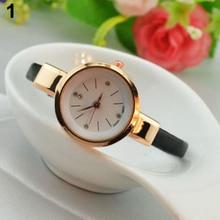 Hot Sales  hot Women Ladies Candy Color Fashion Thin Leather Strap Quartz Bracelet Wrist Watch  2K8F 6T3J