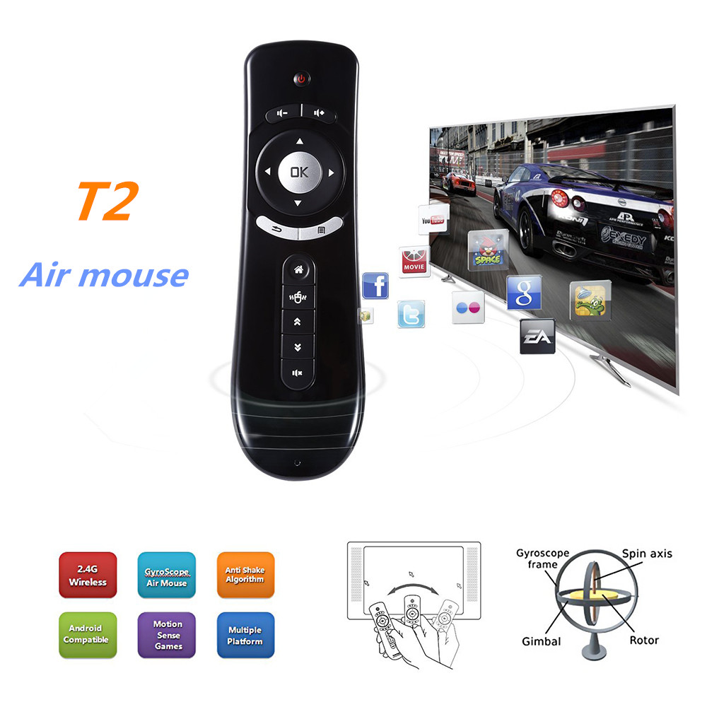 Fly Air Mouse T2 2 4G Wireless Android remote control 3D Body Feel
