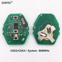Qcontrol placa de circuito chave de controle remoto do carro para bmw série 3/5 868 mhz com ID46-7945 chip cas2/cas2 + sistema