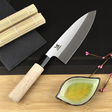 "BIGSUNNY Deba Knife 7""/8"" - Sashimi Sushi Knife - German High Carbon Stainless Steel DIN:1.4116 - Soild Wood Handle(China)"