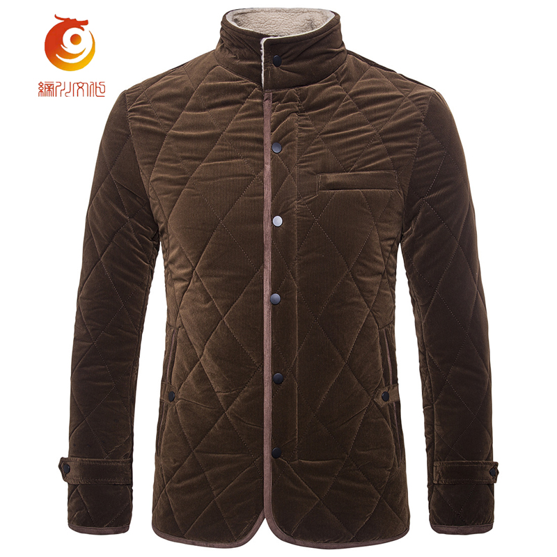 Mens Winter Jackets New Keep Warm Cotton Parka Fashion British Style Suede Casual Solid Color Single Breasted Jacket Size 3XL цена 2017