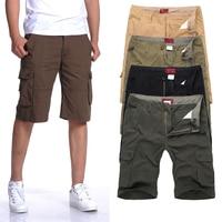 2014 Spring Summer Men Multi Pocket Short Pants Men S Cotton Casual Sport Pants Straight Mens