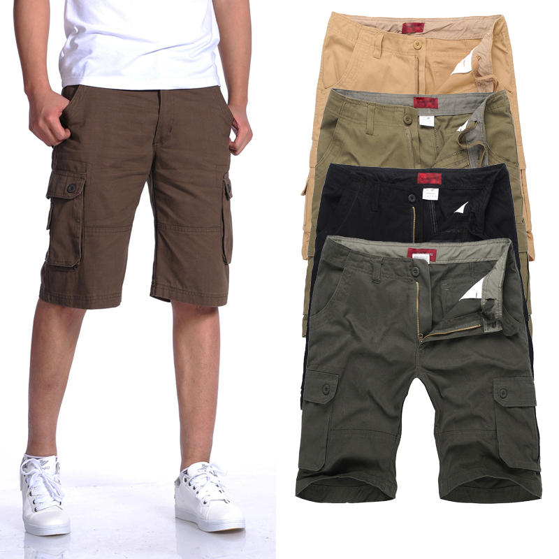 Classic Plus Size Shorts Men:MAX Waist 117CM 30-40 42 44 46 L-XXXL 4XL 5XL 6XL Summer 2017 Male Loose Overalls Cargo Trousers