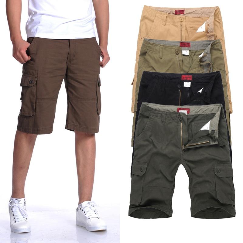 Classic Plus Size   Shorts   Men:MAX Waist 117CM 30-40 42 44 46 L-XXXL 4XL 5XL 6XL Summer 2017 Male Loose Overalls Cargo Trousers