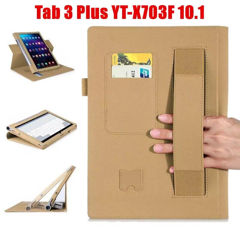 2016 NEW YOGA Tab3 Plus YT-X703F Tab 3 Pro Flip Cover For Lenovo yoga3 pro 10.1 X90 x90l x90f Tablet Case PU Leather Case