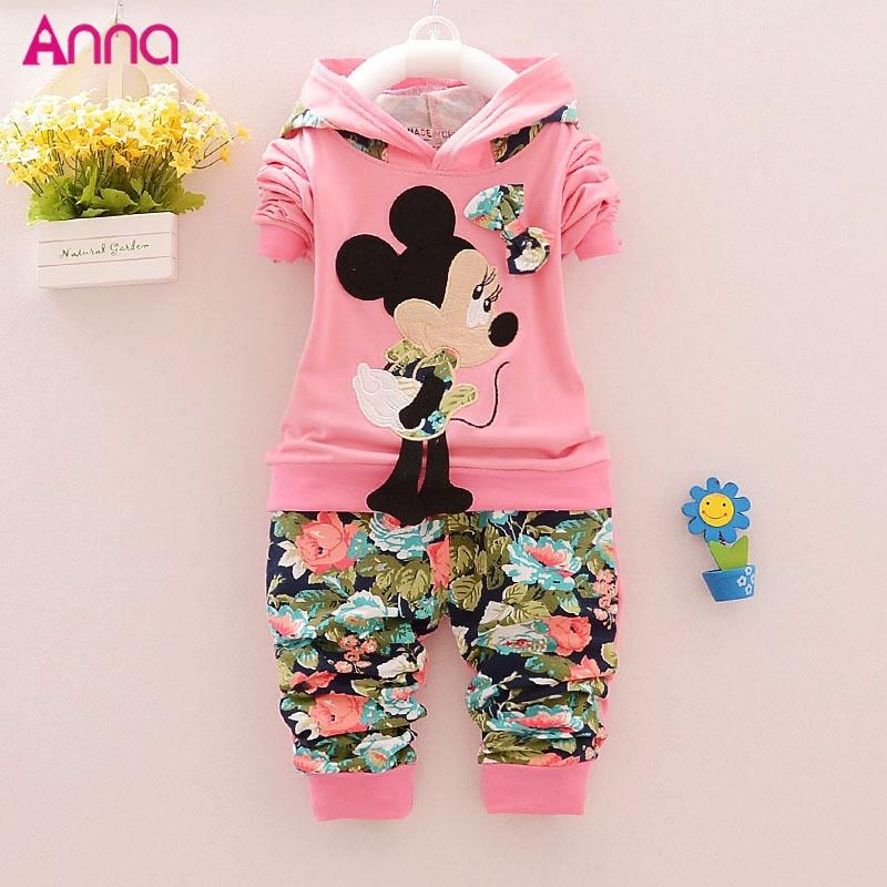 2015 New fashion Spring Autumn baby girls Sport suit set children hoodies pants clothes sets kids