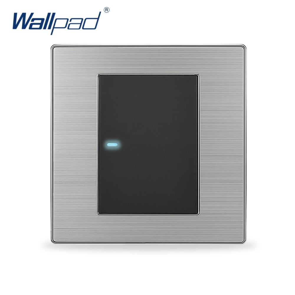 2019 offre spéciale 1 Gang 2 voies Wallpad lumière LED de luxe Interrupteur bouton poussoir interrupteurs muraux Interrupteur 10A AC 110 ~ 250V
