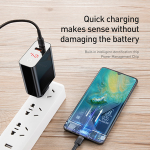 Image 2 - Baseus Quick Charger 45W Usb C Type C Usb Charger 3.0 EU Adapter Fast Charger for Mobile Phone Charging Travel Wall Charger Plug