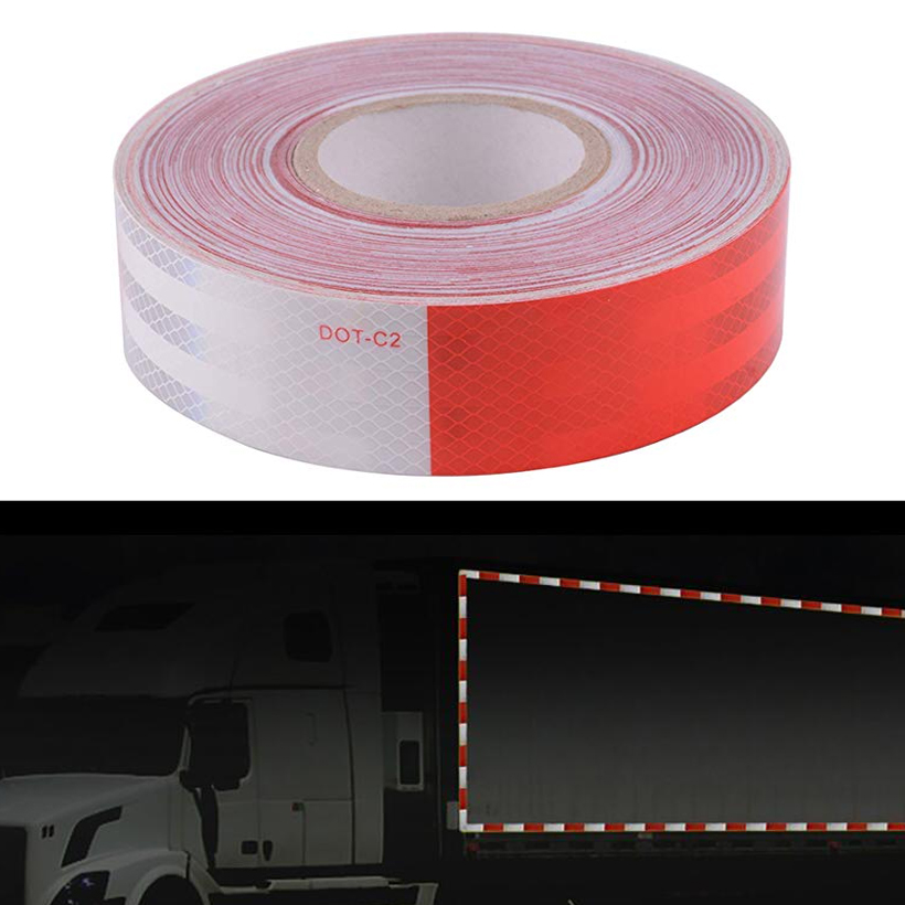 DOT-C2 Reflective Car Truck Motorcycle Sticker Safety Warning Signs Conspicuity Tape Roll
