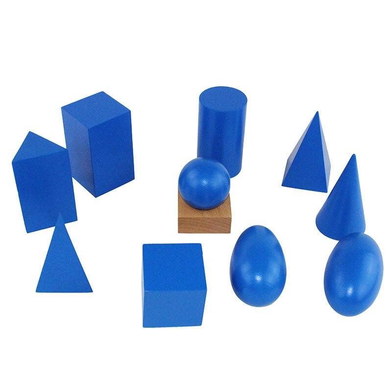 Montessori formes enfants jouets préscolaire matériel d'enseignement formes géométriques groupe avec boîte - 4