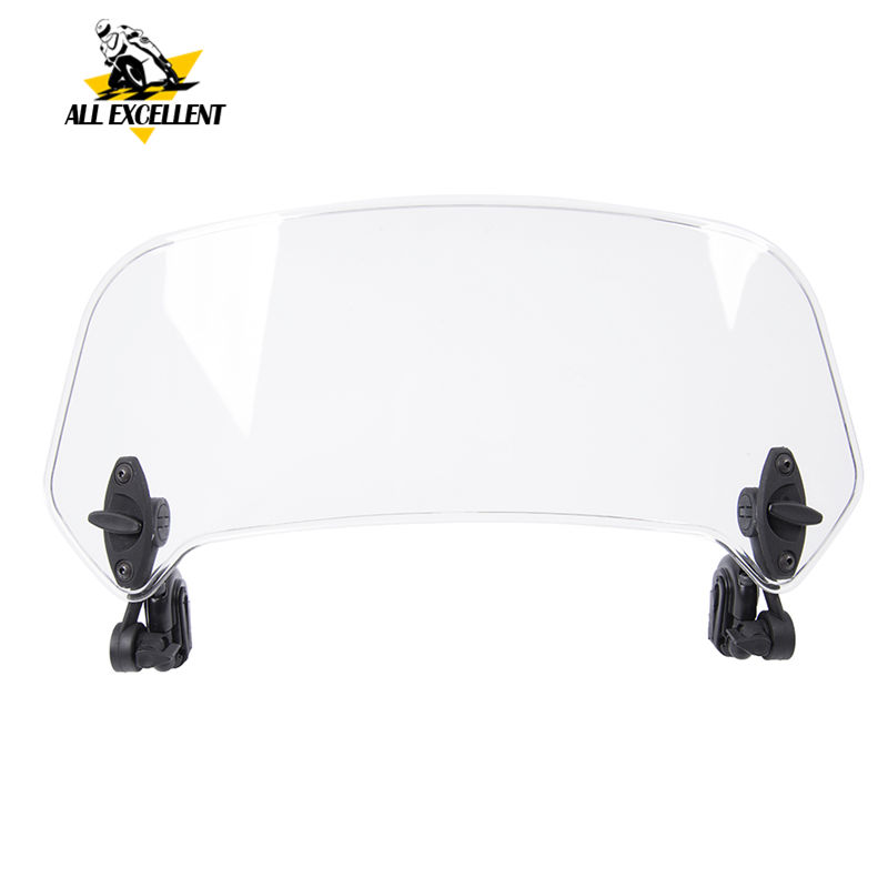 Risen Adjustable Windscreen Windshield Extend Spoiler Air Deflector For Honda Africa Twin XRV 650 XRV750T XRV650